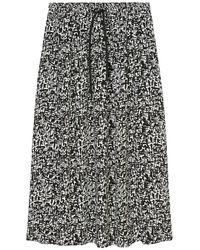 Marc O'polo Skirt With All-over Print - Zwart