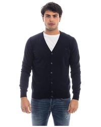 Harmont & Blaine Cardigan With Buttons - Blauw