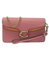 COACH Shoulder Bag With Logo - Roze