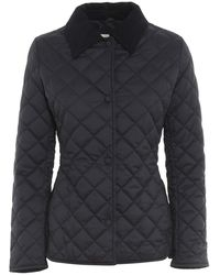 Add Quilted Coat - Blauw