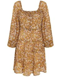 Faithfull The Brand La Romarine Midi Dress La Medina Paisley Print Dresses - Giallo