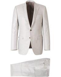 Canali Silk Suit - Grau