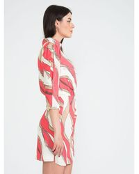 Elisabetta Franchi High neck dress Rosa