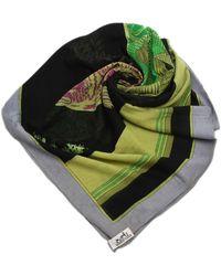 Dolce & Gabbana Printed Silk Scarf - Nero