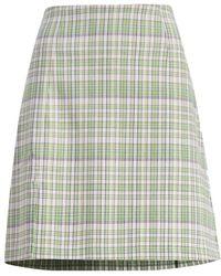 Holzweiler Checked Skirt - Groen