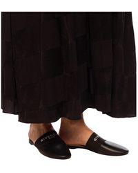 Givenchy Sandalias con logo estampado Negro