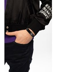 DIESEL Bracelet with logo - Noir