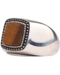 Emanuele Bicocchi Stone Ring Marrón