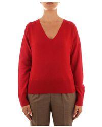 Max Mara Studio Serena Knitwear Woman - Rood