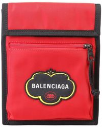 Balenciaga Explorer Canvas Bag - Rood