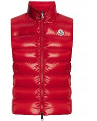 Moncler Ghany Gilet Quilted Vest - Rood