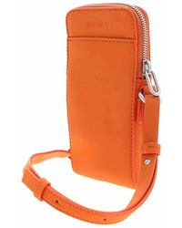 KENZO Preppy Phone Holder on Strap Naranja