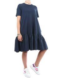 Sun 68 T312117 long dress - Bleu