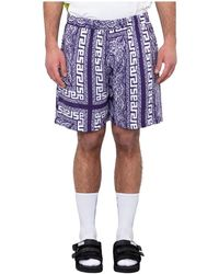 Aries Bandana Print Board Shorts - Blauw
