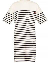 Victoria Beckham Oversize T-shirt - Naturel