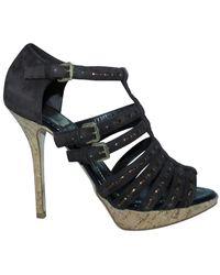 Dior Sandalias de tiras de gamuza - estado de segunda mano muy bueno - Marrón