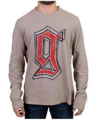 John Galliano - Crewneck Long Sleeve T-shirt - Lyst