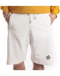 Tagliatore Bermuda con elastico in vita e due tasche - Bianco