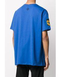 Mr & Mrs Italy Yts0040 Embroidery Oversize T-Shirt - Blau