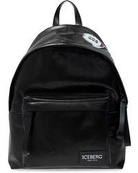 Iceberg Backpack With Logo - Zwart