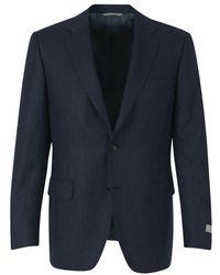 Canali Straight spike jacket - Bleu