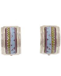 Hermès Cloisonne Clip On Earrings - Grigio