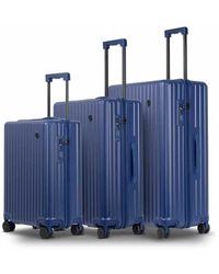 Conwood Vector Blueprint Suitcase Set - Blauw