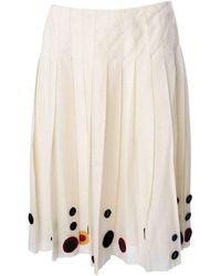 Prada Pleated Skirt - Naturel
