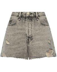 Rag & Bone High-waisted Shorts - Grijs