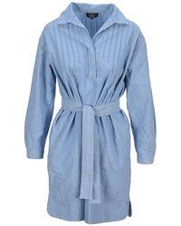 A.P.C. Dress F05872coeoy - Blauw