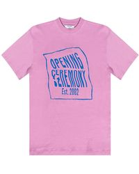 Opening Ceremony T-shirt With Logo - Roze