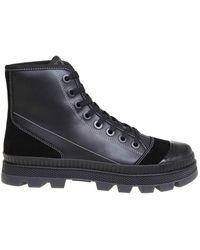 Jimmy Choo Nord Sneakers In Nappa En Suede - Zwart