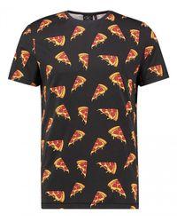 Kultivate T-shirt Pizza - Zwart