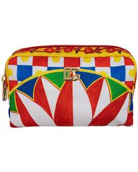 Dolce & Gabbana Carretto-print Make-up Bag - Rood
