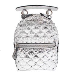 Valentino Garavani Mini Backpack Rockstud - Grijs