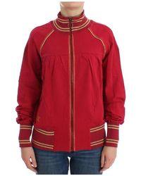 John Galliano Zip Cardigan Sweatshirt Sweater - Rood