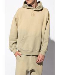 Fear Of God Logo hoodie Verde