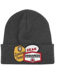 DSquared² Wool hat with logo - Grigio