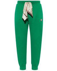 CASABLANCA Sweatpants With Logo - Groen