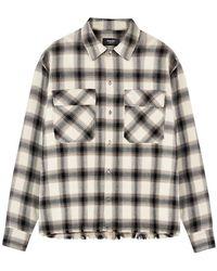 Represent Camicia Quadri Shirt - Naturel