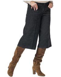 Department 5 Bermuda 5 Pockets 1000 Stripes Velvet - Zwart