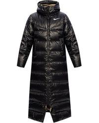 Nike Quilted Down Coat - Zwart