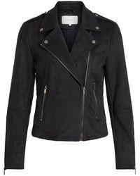 Vila Leather jacket Faux - Noir