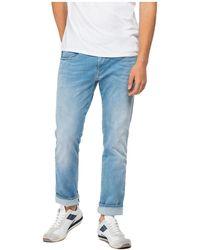 Replay Anbass Hyperflex Re-Used Slim Fit Jeans - Blu
