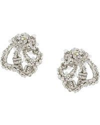 Rochas Chandelier Earrings - Grijs