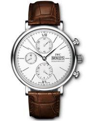 IWC Schaffhausen Portofino Cronograph Watch - Weiß