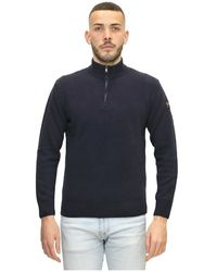 Paul & Shark Hooded Zip - Blauw