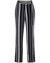 EsQualo Hs19.14221 Trousers Stripe - Zwart