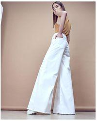 Silvian Heach Jeans palazzo vita skinny - Bianco