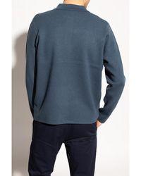 Samsøe & Samsøe Sweater with collar - Bleu